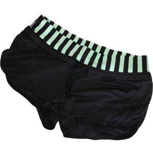 - Lululemon Black & Mint Green Running Shorts